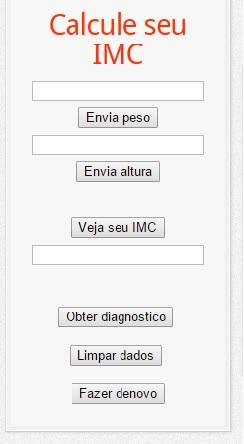 codigo html da calculadora imc