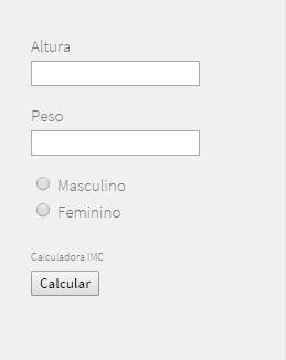 Calculadora imc codigo html aqui