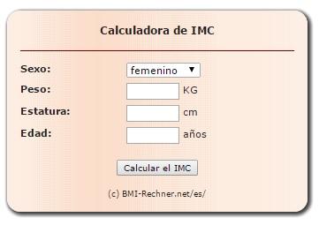 Código html calculadora IMC